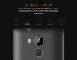"""ELEPHONE VOWNEY LITE BLACK 5.5"""" MTK6795 64-bit Android 5.1 4G Phone 3GB RAM 21MP CAM Touch ID"""